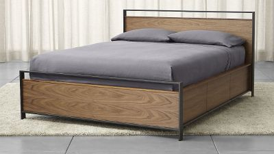 Crate & Barrel Bowery Queen Storage Bed
