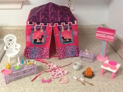 Camping set & Tent for Barbie 23 pcs in all .