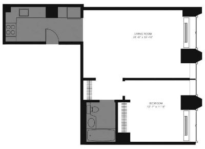 $7380 1 apartment in Financial District
