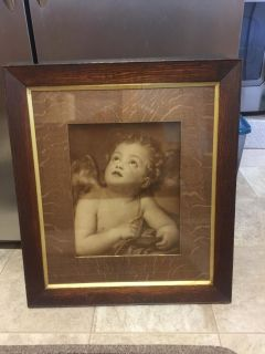 Angel picture with frame