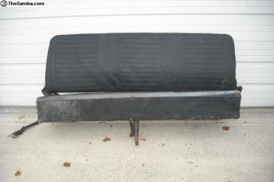 Bay window rear bench seat