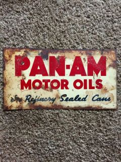 Pan Am Oil Sign