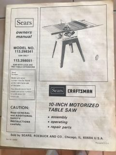 Motorized table saw with table legs and two table extensions
