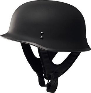 Buy Fly Racing 9MM Half Helmet Traditional German WWII Style Flat Black motorcycle in Hinckley, Ohio, United States, for US $63.00