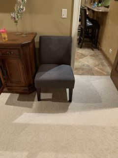 Dark gray slipper chair