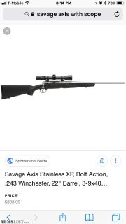 For Sale: Savage Axis II .308