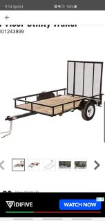 5x8 trailer with ramp