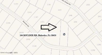 106 Boulder Rd Blakeslee, Building lot of 0.70 acres in