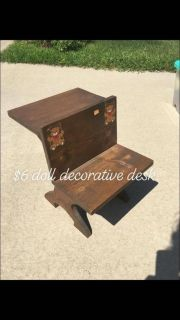 Wood doll or decorative desk