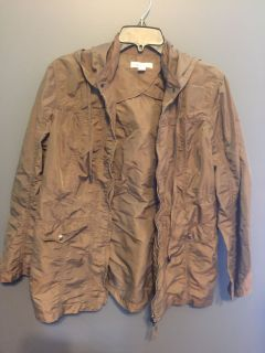 LIKE NEW! Cold water Creek Taupe Rain Jacket - Size 10-12 / M