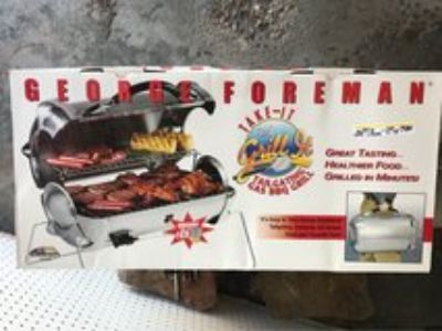 George Forman tailgating gas grill