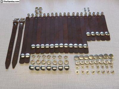Early Westfalia '50-'57 leather curtain strap kit