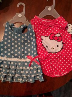 Nwt large dog dress and shirt made by PMP