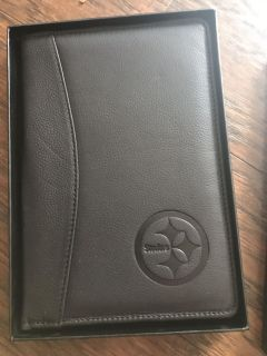 New NFL suite collection Pittsburg Steelers leather note pad