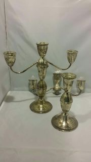 Set of Candelabras Sterling Weighted by Dublin