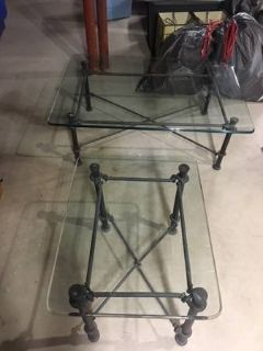 Ethan Allen Matching Coffee/End Rod iron tables