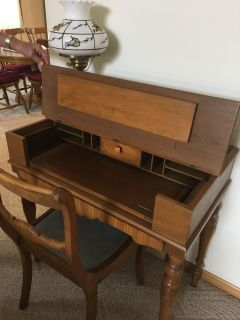 100 year old desk with chair