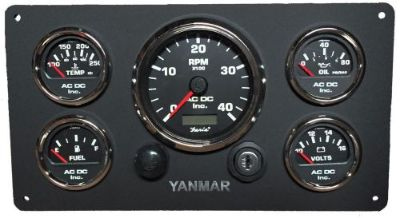 Buy Boat Yanmar Marine Instrument Panel Custom made, with wiring harness, 5 gauges motorcycle in Torrance, California, United States, for US $499.99