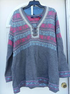 Beautiful snowflake knitted top