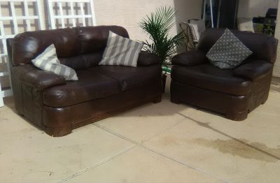Leathers couch and chair