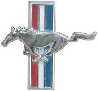 Buy Mustang 1965-66 Flat Glove Box Emblem motorcycle in Stockton, California, US, for US $12.30