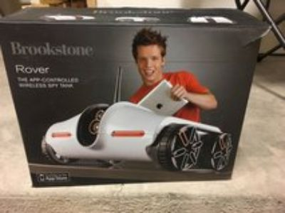 brookstone rover spy tank with video feed