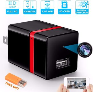 NEW: Spy Camera USB Wall Charger 1080p HD Cam Motion Detection Smart Snap Cam App for Cell Phone