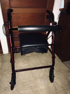 New walker with storage in seat