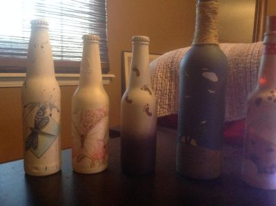 Misc. decorated bottles