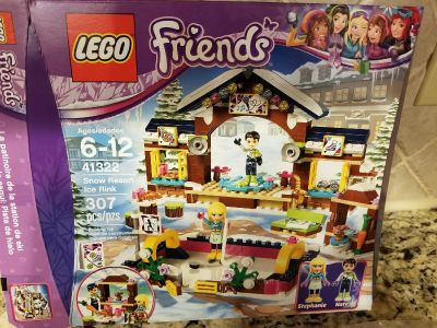 Lego friends snow resort ice rink Built one time all pieces and book included no missing parts