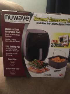 Nuwave Accessory Kit for Nuwave Brio Air Fryer, new still in box, got as a gift but I don t have a air fryer