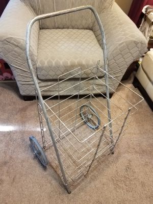 Old Wire Shopping Cart