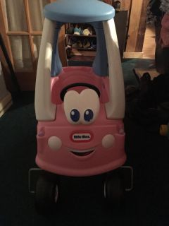 Little tikes pink ride in car