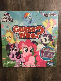 My Little Pony Guess Who? Game. NIP. Would make a great gift!