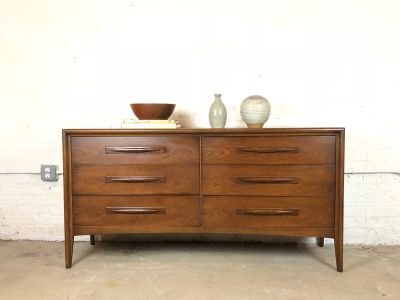 Mid-Century Double Dresser in Walnut