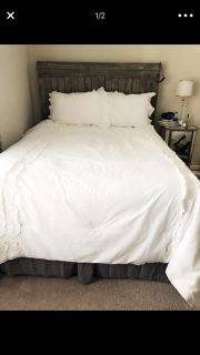 Queen size bed plus comforter set to go ASAP!