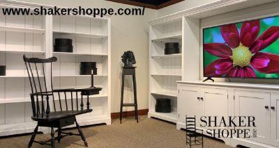 Buy Solid Hardwood Shaker Bookshelves With Shaker Shoppe