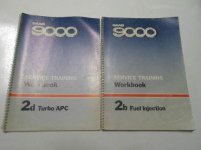 Sell 1970s 80s Saab 9000 Fuel Injection Turbo Service Training Workbook Manual SET motorcycle in Sterling Heights, Michigan, United States