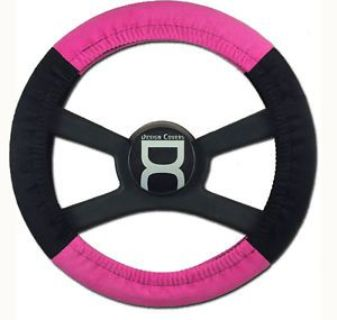 Buy Two Tone Velvet Steering Wheel Cover. Black and Hot Pink. motorcycle in Upland, California, United States