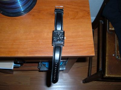 GEORGE STAINLESS SILVER/BLACK WRIST WATCH