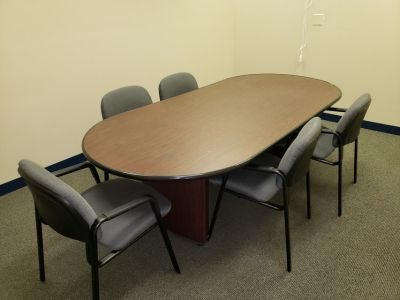 Office conference table and 6 chairs