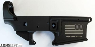 """For Sale: Anderson Mfg """"This We'll Defend """" AR-15 Lower"""