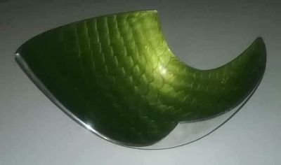 Green and Silver Bowl
