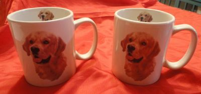 two new very large Golden Retriever tea/coffee cups