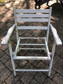 Vintage Wood Outdoor Folding Chairs