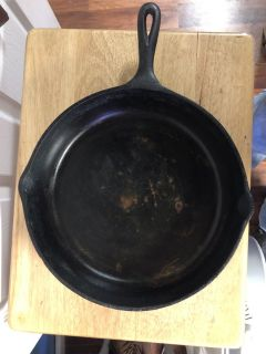Skillet 12 inch Cast Iron Needs Cleaning