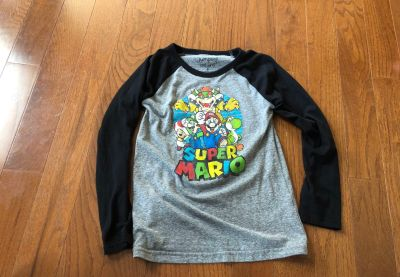 Size 8 Super Mario long sleeve shirt
