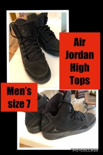 Air Jordan Black High Tops-Men s size 7
