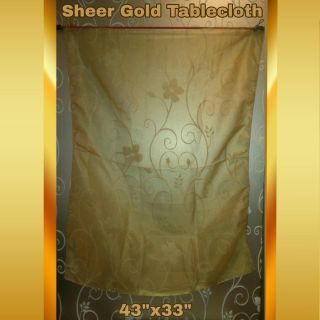 SHEER GOLD TABLECLOTH