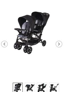 Black And Gray Baby Trend Sit 'n Stand Stroller for Carseat and Toddler's in Great Condition Barely used!!! Paid $200.00